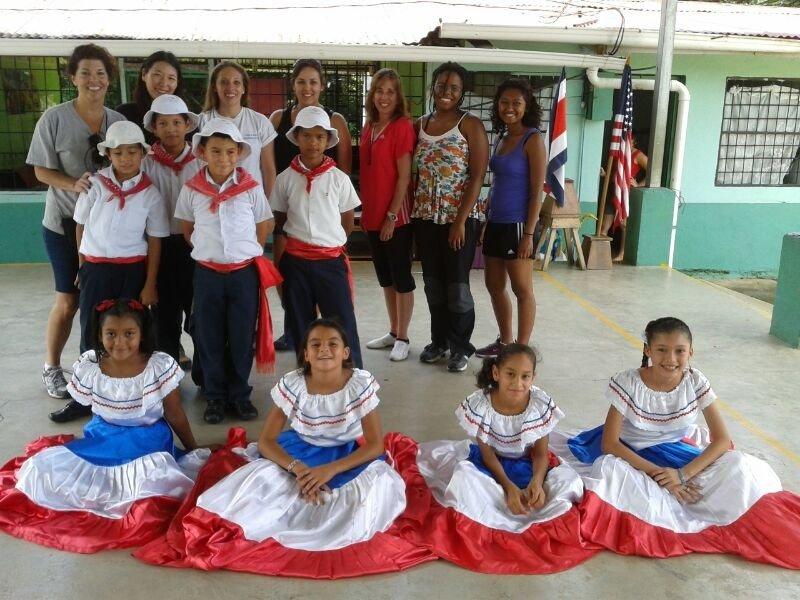 June 29 Volunteers with school