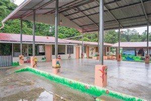 """Huetares School - Covered Meeting Area"""